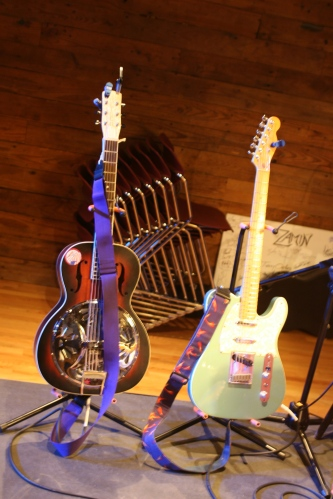 Blue guitars.   (photo by Amy Barley)