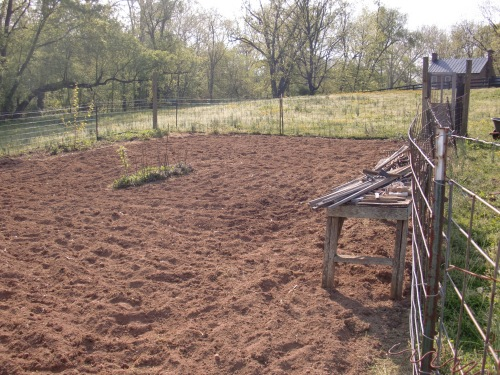 Freshly weedeaten and tilled.  Way too early to plant though.