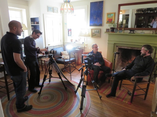 Shooting video for use by Aetna CSO Jim Routh