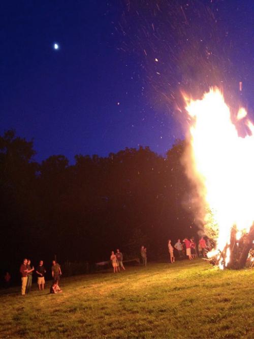 Rocket launch?  No, solstice bonfire!
