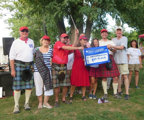 Team Tartan #1 in Leukemia Cup Fundraising, Thanks to our Donors!