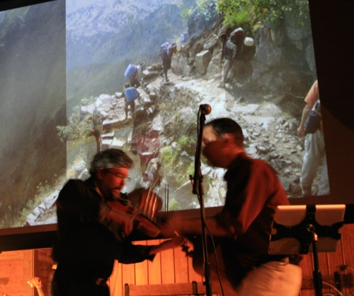 Breathe the Mountain Air was performed with an Indian slide show