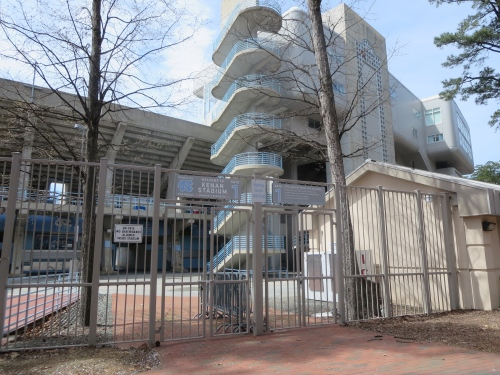 UNC: Football stadium or prison?  Hmm.