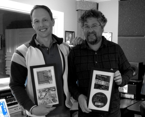 Will Shenk and Gary McGraw with 2 Previous Where'a Aubrey CDs
