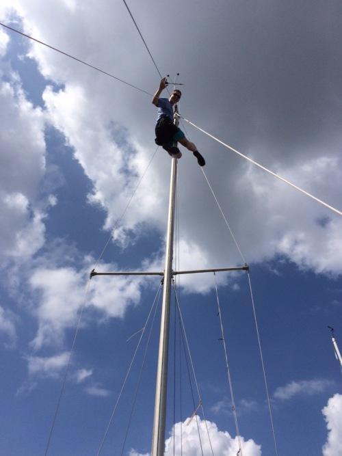 Chris adjusts the windicator