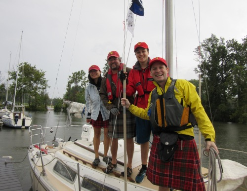 A wet morning on the water: The Team Tartan Crew