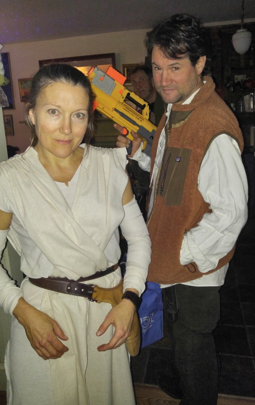 Anna as Rea with Charlie as Han Solo with new improved weaponry