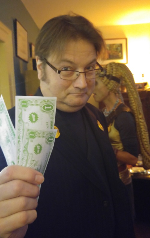 Allen as a Lucasfilm producer wielding cash