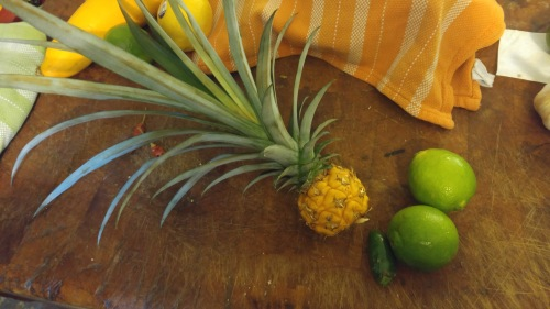 Put the lime in the pineapple