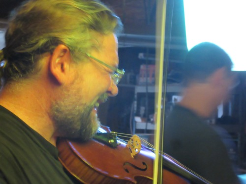 Gary McGraw of Where's Aubrey on violin