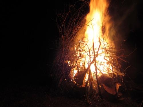 Get lit: Winter Solstice fire 2016