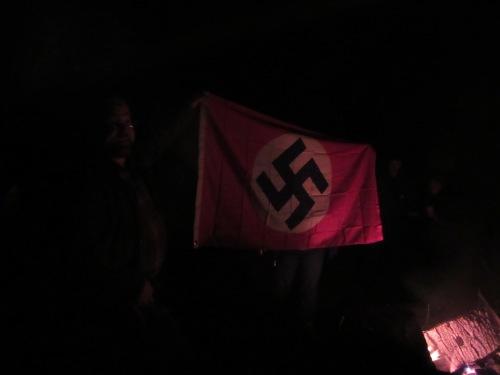 Flag burning time